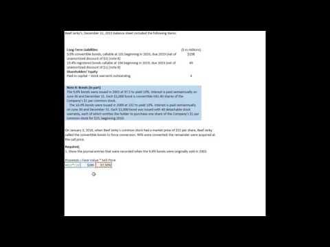 Convertible Bonds Requirement 1
