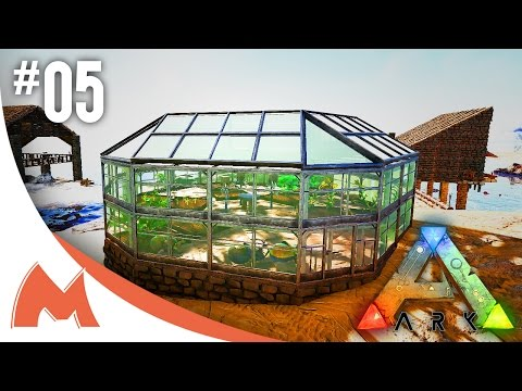 ARK: Survival Evolved - GREENHOUSE BUILD WITH STRUCTURES +! LOVE FOR SNAPPING CROP PLOTS! (S3E05)