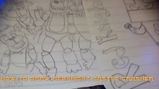 How to Draw Redknight Castle Crasher
