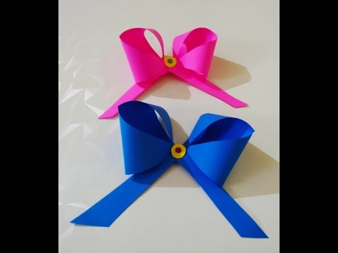 DIY paper crafT paper bow | learn paper craft | paper craft bow tie | art and craft with paper