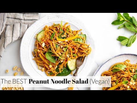 Cold Thai Peanut Noodle Salad (Vegan & Gluten Free)