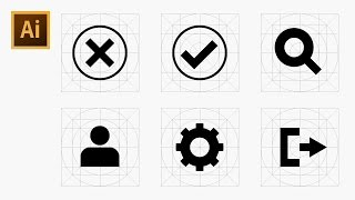 How to Draw Icons Using Grid - Adobe Illustrator