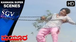 Climax Super Fight Scene - Dr Rajkumar and Vajramuni | Kannada Super Scenes | Mayura Kannada Movie