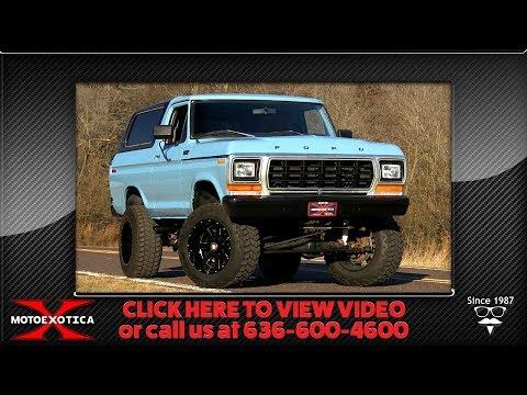 1979 Ford Bronco Custom 4x4 || For Sale