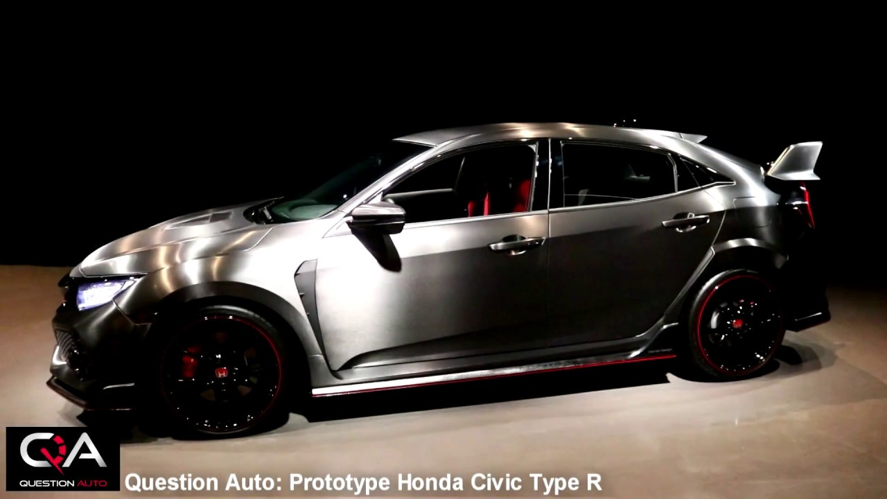 Honda civic type r 2017 prototype ext rieur int rieur for Honda civic 9 interieur