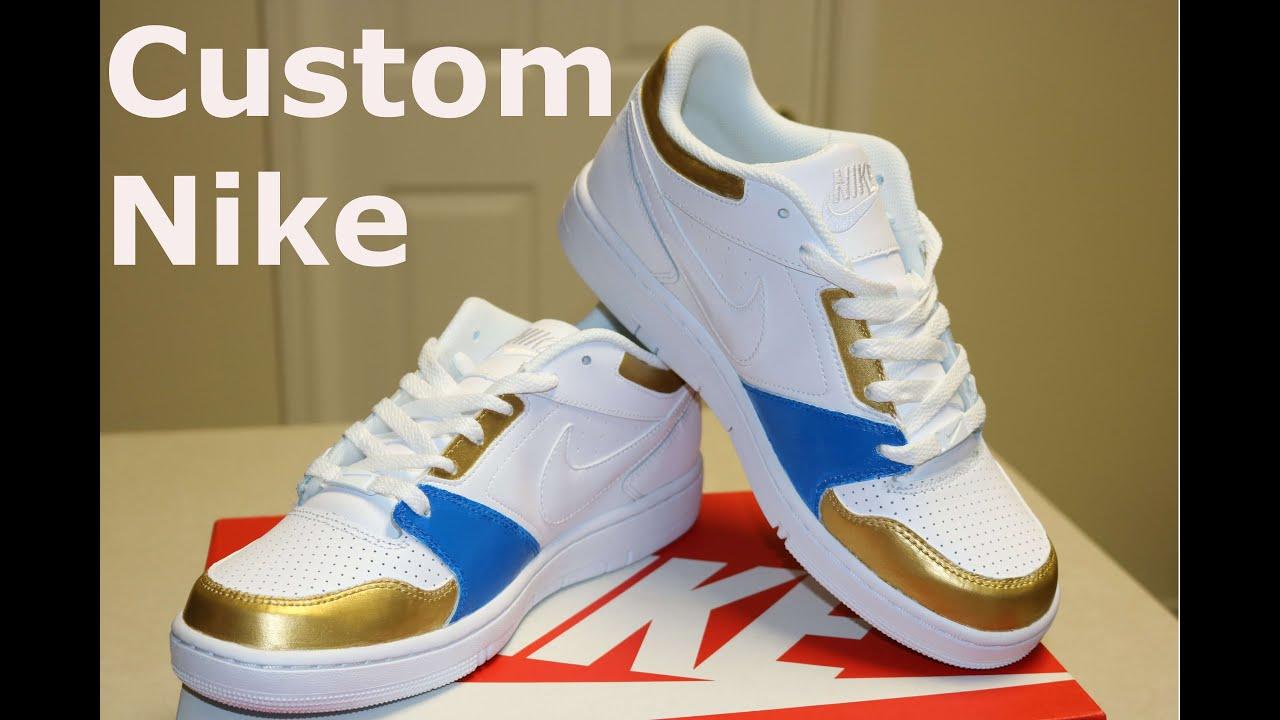 Custom Painted Nike Prestige 4 Sneakers - YouTube 90d5ba62deb6
