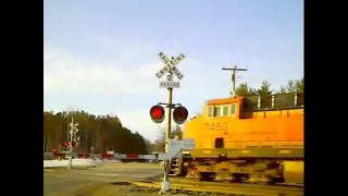 BNSF 7450 West Goes Into Emergency After Hitting A Car @ MP 393.7 (Please Read Info) (3-23-13)