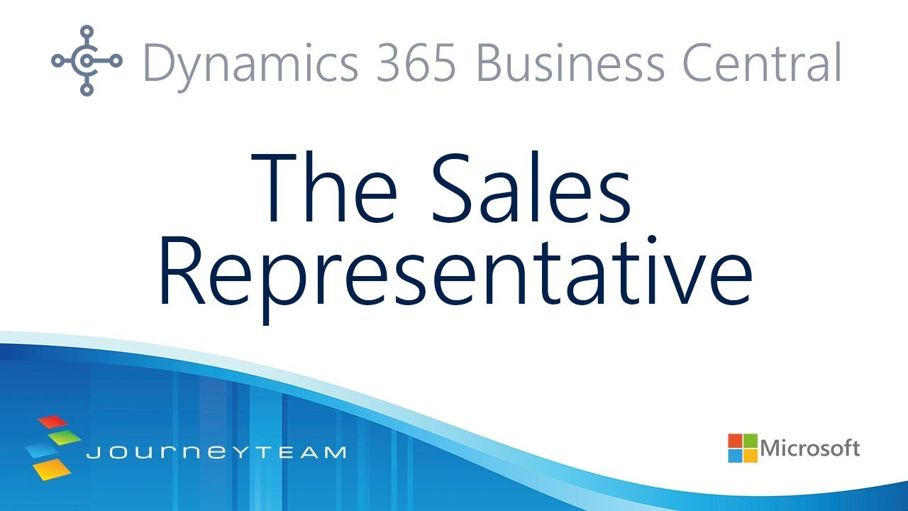 Dynamics 365 Business Central for Sales Representatives