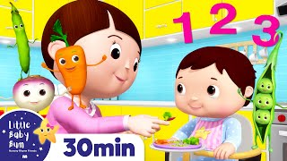 How to Eat Vegetables Song +More Nursery Rhymes & Kids Songs | ABCs and 123s | Little Baby Bum
