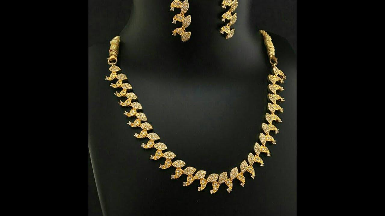 Artificial Bridal Necklace Jewellery Designs || Wedding Long ...