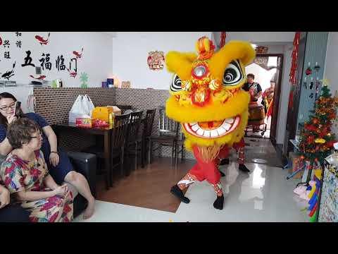Lion dance 2019 Singapore Wen Yong lion dance troupe Part 1