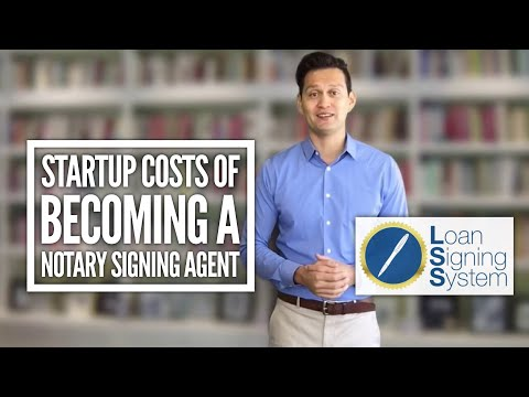 Startup Costs of Becoming a Notary Loan Signing Agent - Loan