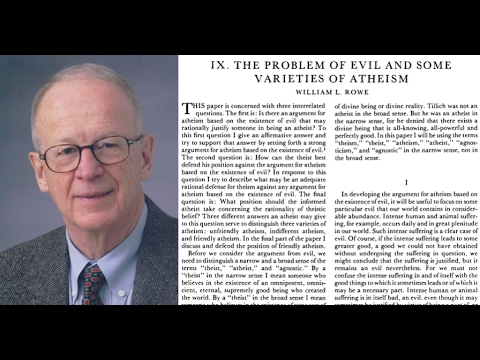 RA002: Article: The Problem of Evil and Some Varieties of Atheism (Podcast episode)