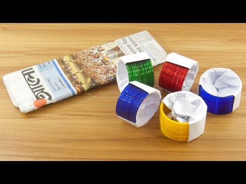 Diy Home decor idea with Old bangles &  Newspaper | diy projects For Home deco