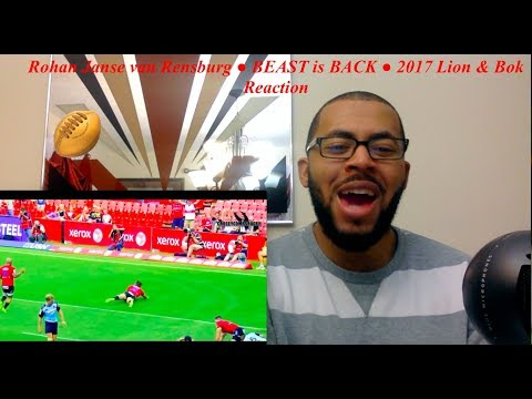 Rohan Janse van Rensburg ● BEAST is BACK ● 2017 Lion & Bok Reaction