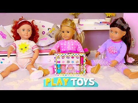 Baby Doll Slumber Party! Play AG, OG Dolls Make up and Dress up games w/ Nursery Rhymes for kids!