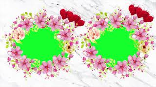 Wedding Background Video-Cool Animation Green Screen Effects 4K