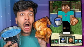 I Only Ate MINECRAFT FOODS for 24 HOURS! (IMPOSSIBLE FOOD CHALLENGE)