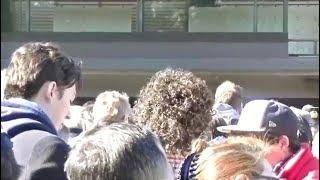 【東京のお正月2018】皇居宮殿東庭 長和殿ベランダ前にて(第4回 午後1時30分頃のお出まし前)