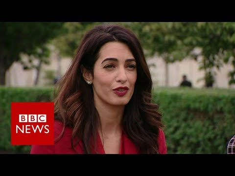 Amal Clooney demands justice for Yazidis - BBC News