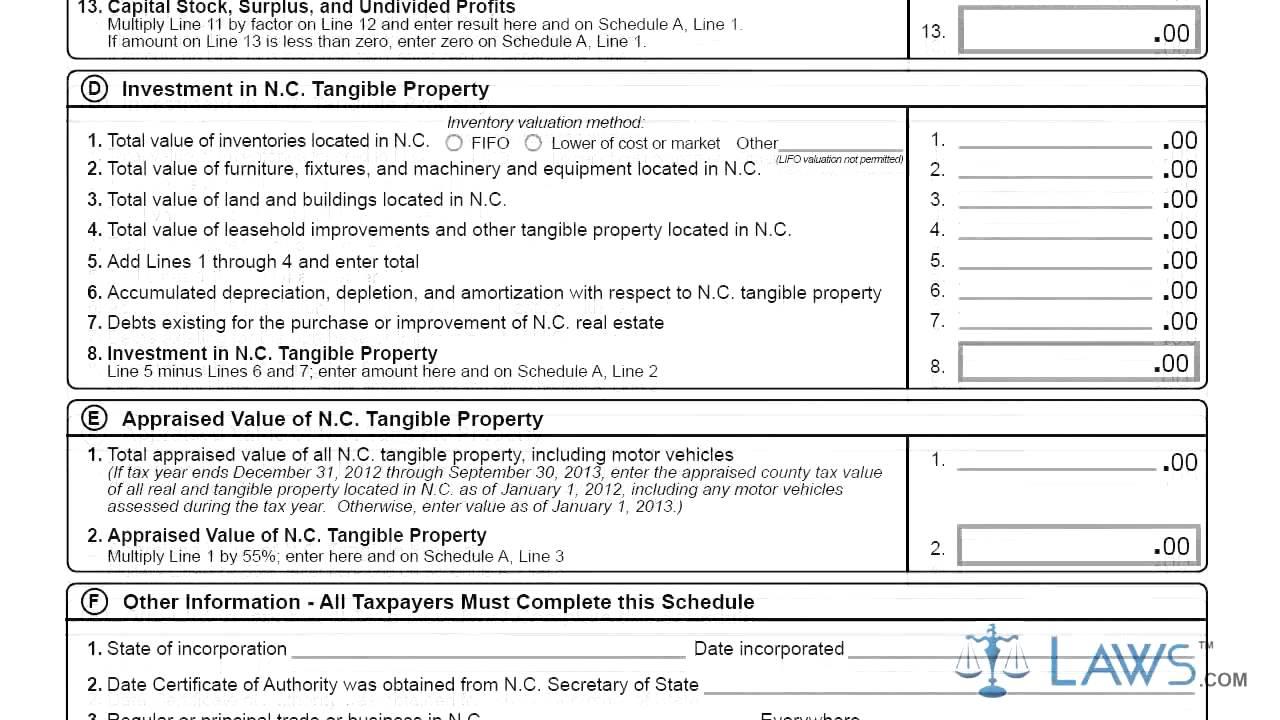 Form CD 405 C Corporation Tax Return - YouTube