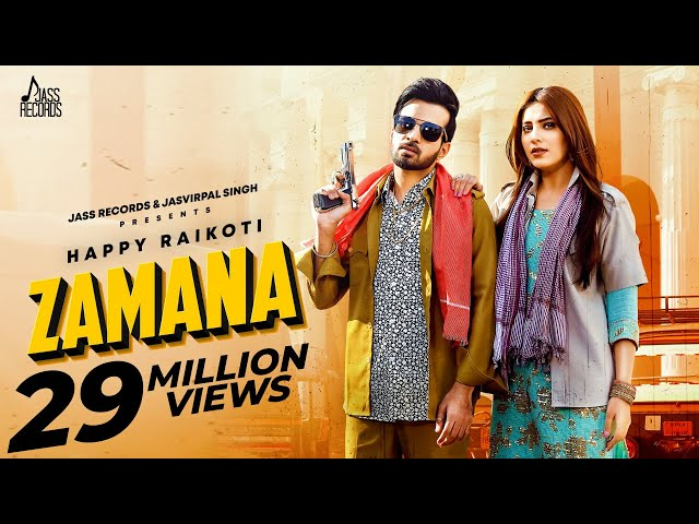 Zamana | (Full HD) | Happy Raikoti Ft.Afsana Khan | Ginni Kapoor | Punjabi Song 2020 | Jass Records