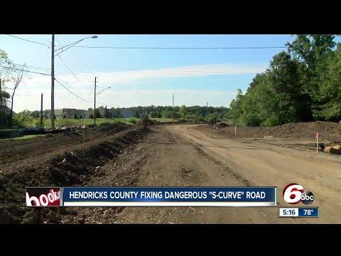"Hendricks County crews fixing dangerous ""s-curve"" road"