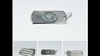 Серебряный солдатский жетон\Soldier's silver badge