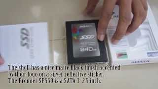 ADATA SP550 Unboxing Review (240GB)