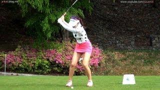 [1080P HD]  AHN Shin-Ae Iron with Practice Golf Swing 2013 (2)_KLPGA Tour