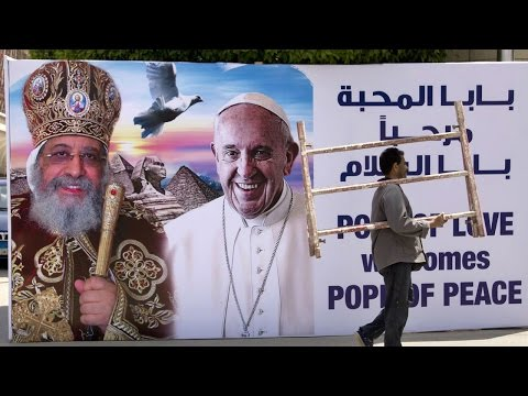 Pope Francis arrives in Egypt with powerful message  HD