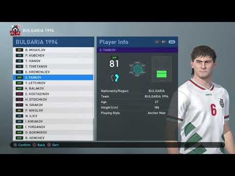 PES 2019 - PS4 - WORLD CUP 1994 - GROUP D - ARGENTINA / BULG