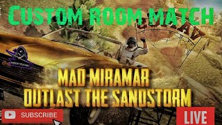 Mad Miranmar Custom Room Match | ARROW ESPORTS |Game play of regitered squads | Live now