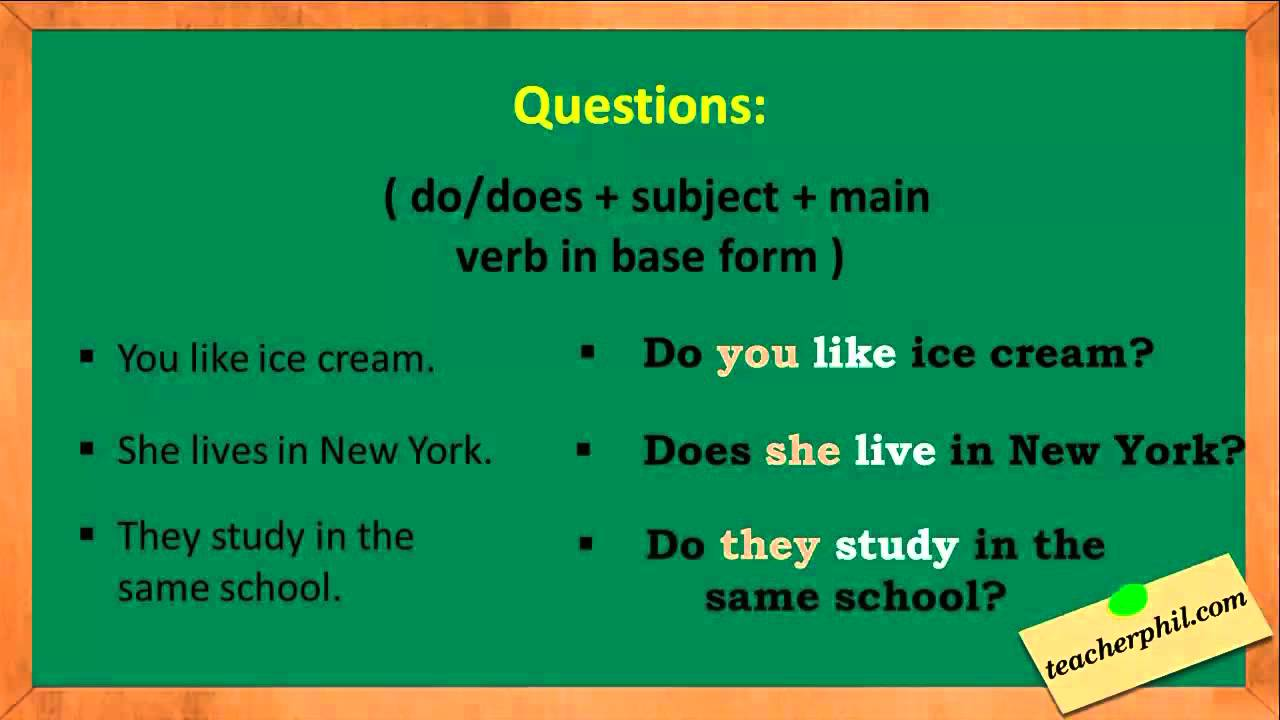 how to write in present tense