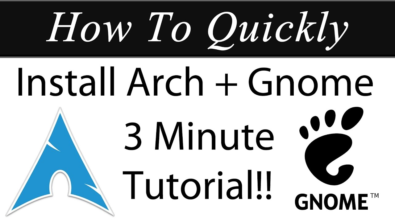How to quickly install arch linux 2017 with gnome in vmware 3 how to quickly install arch linux 2017 with gnome in vmware 3 minute tutorial youtube baditri Choice Image