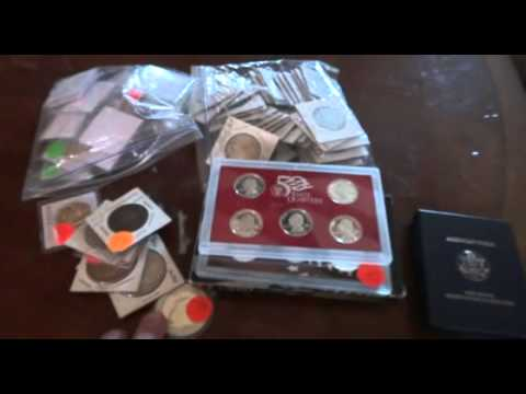 Silver Treasure Yard Sale / Garage Sale Finds!!  COINS BULLION