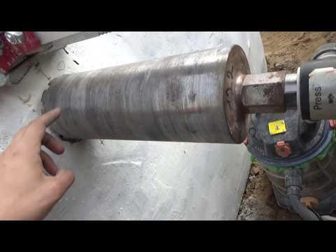Как пробить дыру в фундаменте под канализацию