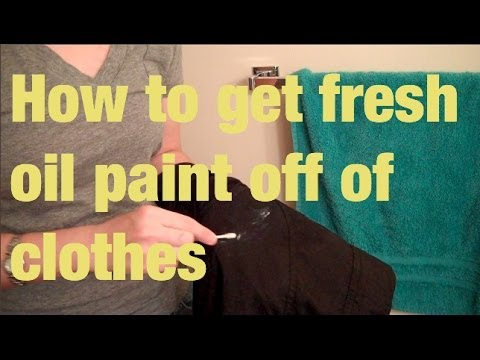 How to get oil paint out of jeans