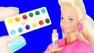 11 DIY MINIATURE IDEAS for BARBIE and LOL Surprise DOLL HACKS and more