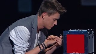 Americas Got Talent Finalist MAGICIAN USES TWITTER TO PREDICT THE FUTURE | Collins Key thumbnail