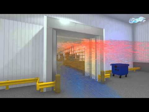 Cold storage air curtain PATENTED: AFIM® IGLO-2 (air door freezer / cold store)