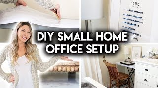 DIY SMALL HOME OFFICE | SIMPLE WORKSPACE IDEAS