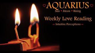 AQUARIUS - AUGUST 12-18 2018 LOVE TAROT READING