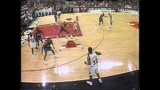 1996 Bulls vs. Pistons (full TV broadcast w/ crazy camera angles similar to NBA LIVE 97 video game)