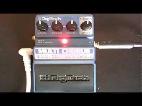Crazytrainmusic: Digitech X-Series Multi Chorus demo