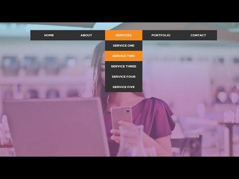 Navbar with Dropdown Menu Animation | CSS Animation Tutorial