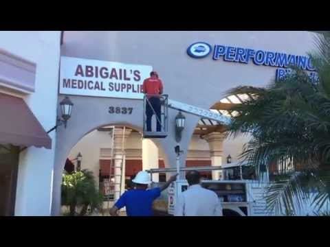 Signs for San Diego - Abigail's Medical Supplies Oceanside Channel Letter Install