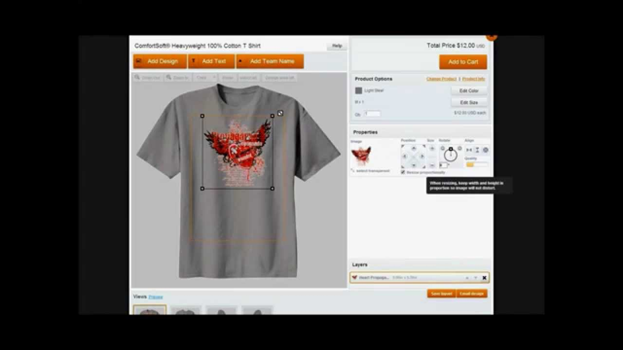 Design your t shirt and sell - Create Custom Apparel And Sell It On Your Own Website For Free