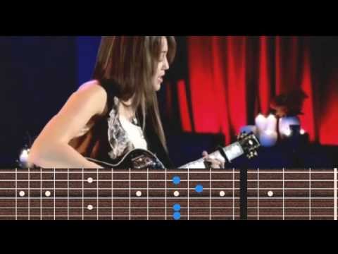 Miley Cyrus - Butterfly Fly Away guitar chords