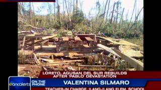 Loreto, Agusan del Sur tries to rebuild after Pablo devastation
